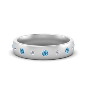 Bezel Set Blue Topaz Band
