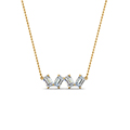 0.80 carat emerald cut diamond necklace in FDNK8326ANGLE2 NL YG
