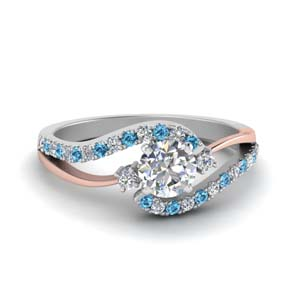 Modern Engagement Ring With Blue Topaz