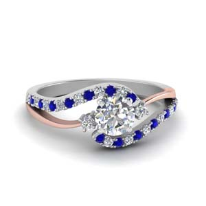 2 Tone Sapphire Ring For Her