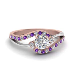 Unique Purple Topaz Wedding Ring