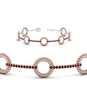 18K Rose Gold Ruby Bracelet