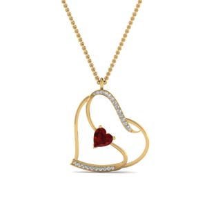 Heart Design Diamond Pendant