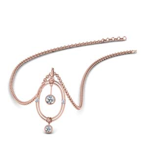 Oval Design Rose Gold Pendant