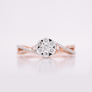 Affordable Twisted Band Engagement Ring