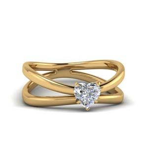 Moissanite Split Shank Solitaire Ring