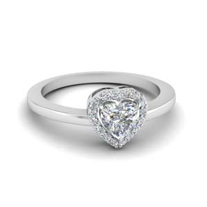 heart shaped diamond elegant halo engagement ring in FD1012HTR NL WG