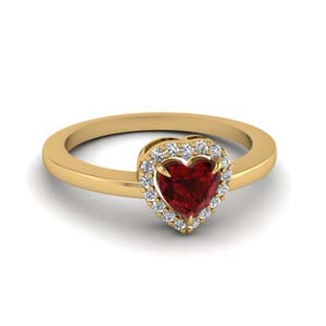 Halo Ruby Engagement Ring