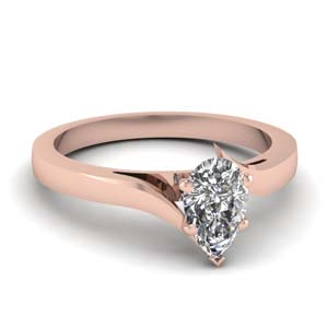 Pear Shaped One Stone Ring