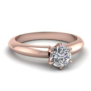 6 Prong Dome Diamond Ring