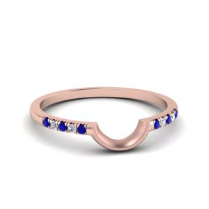 Curved French Pave Sapphire Band