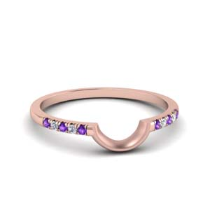 Rose Gold Purple Topaz Band