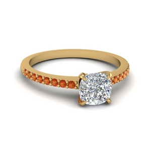 Cushion Cut Petite Ring