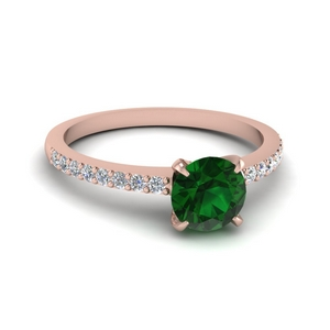 Delicate Emerald Stone Ring