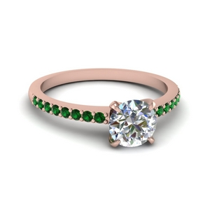 Delicate Diamond Emerald Ring