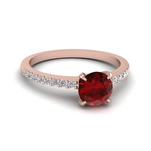 Ruby Rose Gold Simple  Ring
