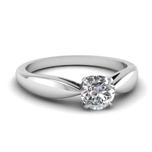 Bow Round Solitaire Ring