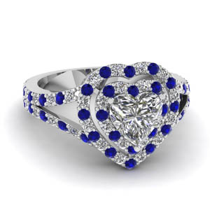 Halo Heart Diamond Ring