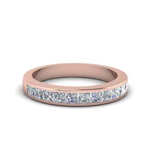 Princess Cut Wedding Band