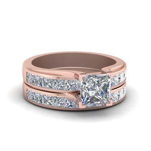 Channel Bridal Ring Set