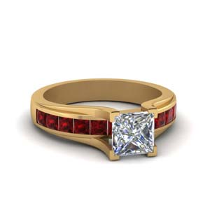 Channel Set Ruby Wedding Ring
