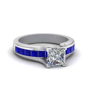 Channel Set Sapphire Wedding Ring