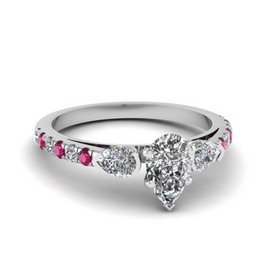 Petite Pear Diamond Ring