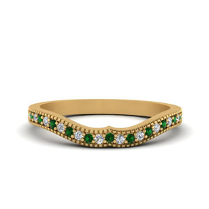 Emerald Curved Band