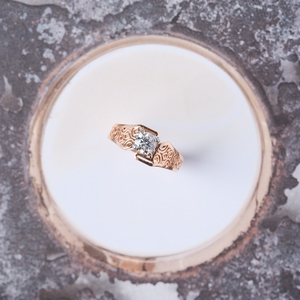 Lab Created Diamond Filigree Ring