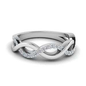 infinity diamond wedding band in FD1079B NL WG