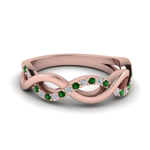 Unusual Emerald Wedding Ring