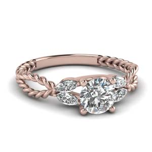 Leaf Vine Diamond Ring