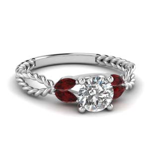 Twisted Rope Ruby Ring