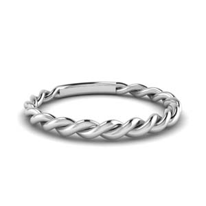 Matching Braided Wedding Band