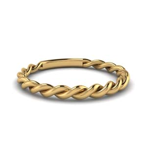 Twisted Rope Wedding Band