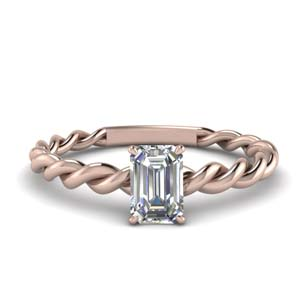 Emerald Cut Braided Ring