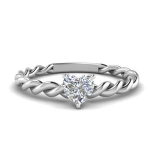 Solitaire Braided Engagement Ring