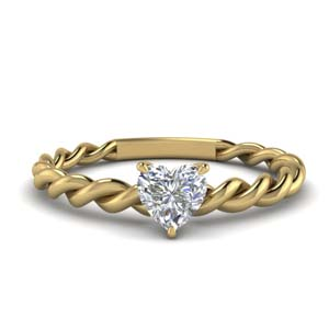 Twisted Solitaire Braided Ring