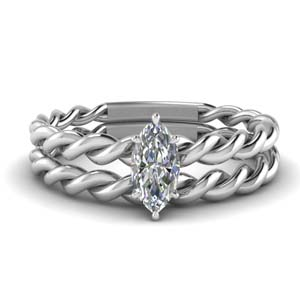 Marquise Diamond Ring Set