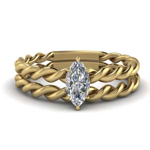 Twisted Rope Solitaire Bridal Set