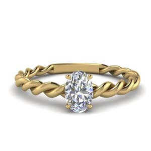 Oval Shaped Twisted Band Ring