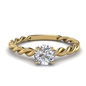 Twisted Solitaire Ring