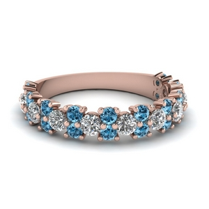 Half Eternity Band With Topaz