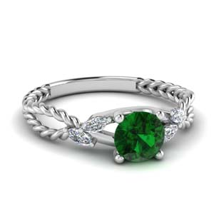 nature inspired emerald engagement ring in FD1099RORGEM NL WG.jpg