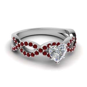 Infinity Engagement Ring With Ruby