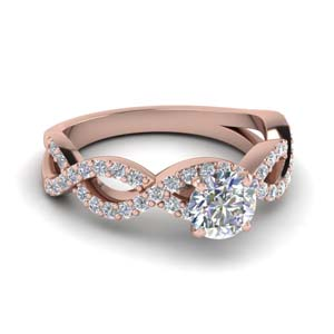 twist infinity diamond ring