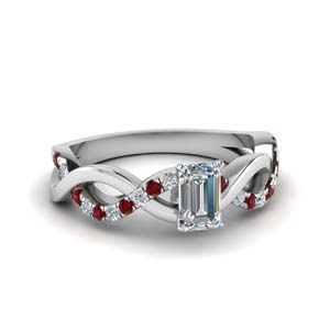 Infinity Emerald Cut Diamond Ring