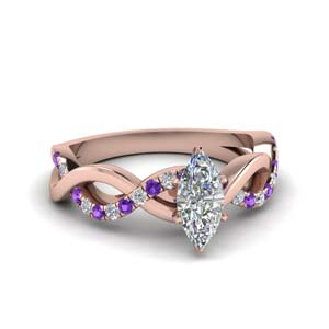 Purple Topaz Marquise Shaped Ring