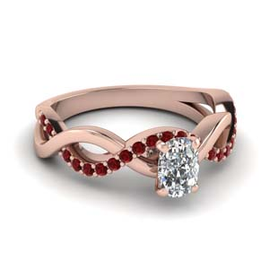 cushion cut ruby twisted engagement ring in FD1122CURGRUDR NL RG GS