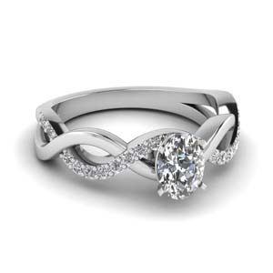 Oval Shaped Diamond Infinity Ring